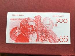 BELGIQUE Billet De 500 Francs Impression Rouge Billet Scolaire ??? Faux Billet ??? Billet De Jeux ???? - Sonstige
