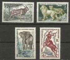 Fr. Equatorial. Africa - 1957 Wild Animals MH *   Sc 195-8 - Ungebraucht