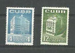 Cuba 1956 Masonic Temple 2v Scott 558, C135 MNH - Cuba
