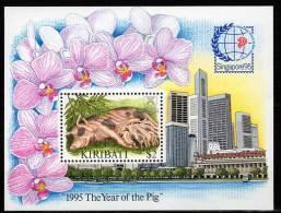 KIRIBATI - BLOC N°18 ** (1995) Année Du Porc - Kiribati (1979-...)