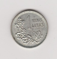 1 LITAS 1925 ARGENT - Lituanie
