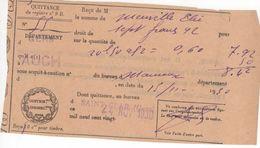 1526 32 Commune ST CLAR Gers Mauroux LAPORTE MENVILLE QUITTANCE Auch 1930 Contributions Indirectes Impôts - Frankreich
