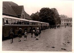 Photo Originale Alignement De Cars Et Autocars à Identifier à Siggen En Allemagne 1952 - Cars