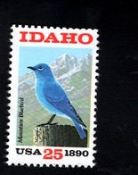 1016869420 SCOTT 2439 POSTFRIS MINT NEVER HINGED EINWANDFREI - IDAHO STATEHOOD 100TH ANNIV - MOUNTAIN BLUEBIRD - United States