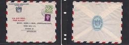123gone. Suriname Cover C.1952 Mult Fkd Env Comercial Bank, Fine. Easy Deal. - Surinam