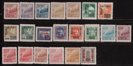 CHINA PRC 1950 21 STAMPS MINT - Unused Stamps
