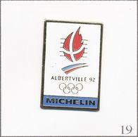 Pin's Sport - J.O D'Albertville 1992 - Sponsor Michelin. Non Estampillé. Métal Peint. T727-19 - Giochi Olimpici