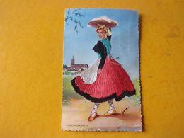 Carte Brodée : Costume Régional : Espagne - Brodées