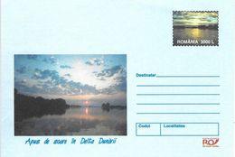 ROUMANIE - Enveloppe Entier 3000 L Coucher De Soleil Danube Delta - Lettere