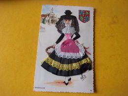 Carte Brodée : Costume Régional : France Bresse Bressane - Brodées