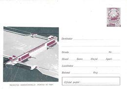 ROUMANIE - Enveloppe Entier 55 - Centrale Hydroélectrique Portes De Fer - Danube - Lettere
