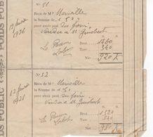 1531 32 ST CLAR Gers POIDS PUBLIC Ticket Reçu Bascule Droit De Pesage 1926 Peseur LABAT  Foin Menville - Frankreich
