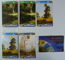 RUSSIA / USSR - Chip - MOSCOW - Centre Telecom  Paintings & Komet Telcomms - Mint Blister/ Used - Russie