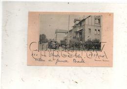 Poissy (78) : La Villa De La Famille Braullt 110 Rue Charles Marechal Avec Voiture Env 1929 (animée) CP PHOTO RARE - Lieux