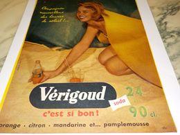 ANCIENNE PUBLICITE C EST SI BON SODA VERIGOUD 1957 - Affiches