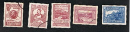 BULGARIA    -  SG 239.243  - 1921 MACEDONIA LIBERATION (COMPLET SET OF 5)  -  USED° - Gebraucht