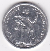 Nouvelle-Calédonie . 1 Franc 1988. Aluminium. - New Caledonia