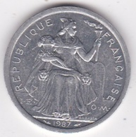 Nouvelle-Calédonie . 2 Francs 1987. Aluminium. - Nouvelle-Calédonie