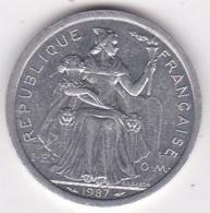 Nouvelle-Calédonie . 2 Francs 1987. Aluminium. - New Caledonia