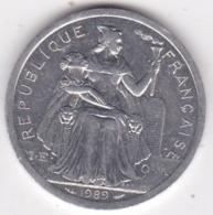 Nouvelle-Calédonie . 2 Francs 1989. Aluminium. - Nouvelle-Calédonie