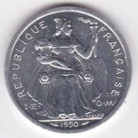 Nouvelle-Calédonie . 2 Francs 1990. Aluminium. - New Caledonia