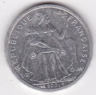 Nouvelle-Calédonie . 2 Francs 2001. Aluminium. - Nouvelle-Calédonie