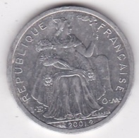 Nouvelle-Calédonie . 2 Francs 2001. Aluminium. - New Caledonia