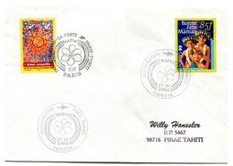 Cachet Commémoratif - Inauguration Paris Tahiti - 27 Janvier 2000 - R 5853 - Polinesia Francese
