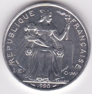 Nouvelle-Calédonie . 5 Francs 1990. Aluminium. - New Caledonia