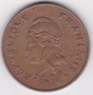 Nouvelle-Calédonie . 100 Francs 1976 . En Laiton De Nickel - Nouvelle-Calédonie