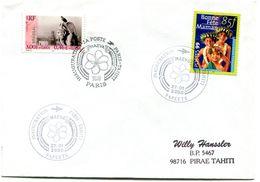 Cachet Commémoratif - Inauguration Paris Tahiti - 27 Janvier 2000 - R 5854 - Polinesia Francese
