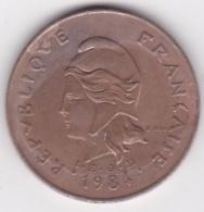 Nouvelle-Calédonie . 100 Francs 1984 . En Laiton De Nickel - Nouvelle-Calédonie
