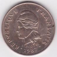 Nouvelle-Calédonie . 100 Francs 1987 . En Laiton De Nickel - Nouvelle-Calédonie