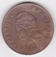 Nouvelle-Calédonie . 100 Francs 1991 . En Laiton De Nickel - Nouvelle-Calédonie