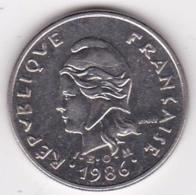Nouvelle-Calédonie. 10 Francs 1986. En Nickel - Nouvelle-Calédonie