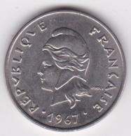 Nouvelle-Calédonie. 20 Francs 1967. En Nickel - Nouvelle-Calédonie
