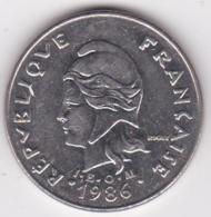 Nouvelle-Calédonie. 20 Francs 1986 En Nickel - Nouvelle-Calédonie