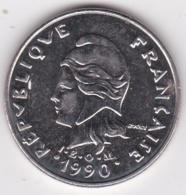 Nouvelle-Calédonie. 20 Francs 1990 En Nickel - New Caledonia