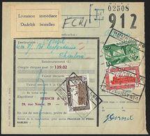 1951 - BELGIË/BELGIQUE/BELGIEN - Document - Y&T 304+309+324 [Colis Postaux] + BRUXELLES/BRUSSEL - Railway