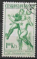 Czechoslovakia 1958. Scott #843 (U) Soccer - Used Stamps