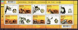 South Africa 2006 - Animal Tracks, Min. Sheet -  Michel 1715-24 -  MNH, NEUF, Postfrisch - Blocks & Sheetlets