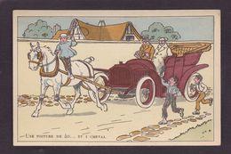 CPA Elliot Harry Voiture Automobile Cheval Horse Non Circulé - Elliot