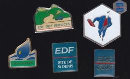 65464-Lot De 5 Pin's-EDF-GDF. - EDF GDF