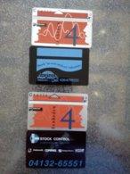 PAYS BAS LOT 2 CARDS PRIVEE LANDIS GYR HORIZON REISBURO & STOCK CONTROL COMPUTERS 4U UT - Privées