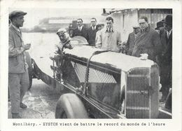 MONTLHERY . EYSTON BAT RECORD DU MONDE DE L'HEURE - Autorennen