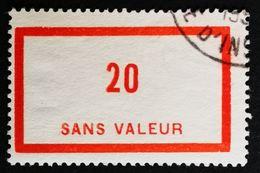 France Fictif N° F87 Oblitéré TTB Et Très Rare En Oblitéré. Cote 2020 : 3 Euros Minimum. Voir Scans Recto Verso - Fictifs