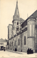 CPA - AUXERRE - EGLISE SAINT EUSEBE (AVEC ANIMATION) - Auxerre