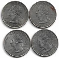 USA   QUARTER  DOLLAR Commemorative2008/2005/2005/2003 4 Pieces Plat02 - Central America