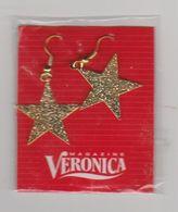 Veronica TV-radio Magazine Oorbellen Nieuw (gouden Sterren) - Bijoux & Horlogerie