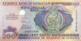 Vanuatu 200 Vatu, P-9 (1995) - UNC - 15 Years Independence - AA Series - Vanuatu